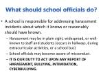 what should school officials do