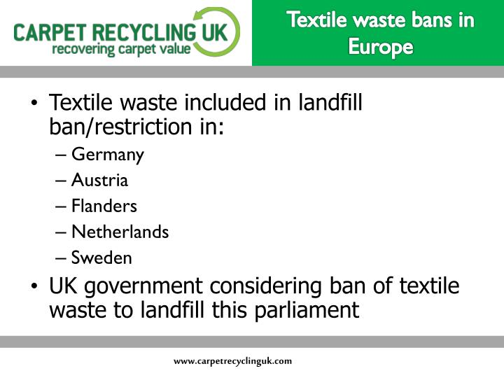 Textile waste bans in Europe