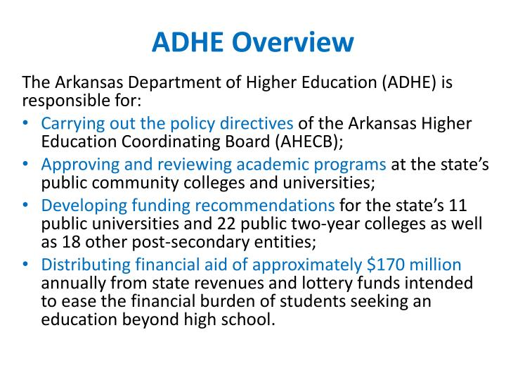 Adhe overview