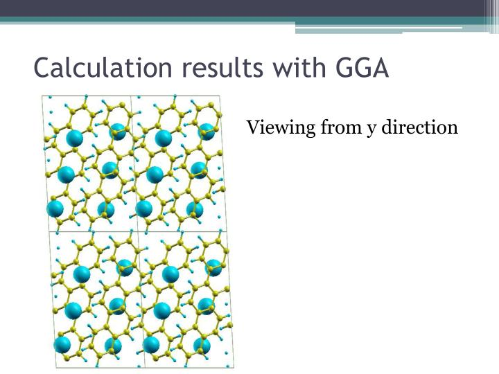 Calculation results with GGA