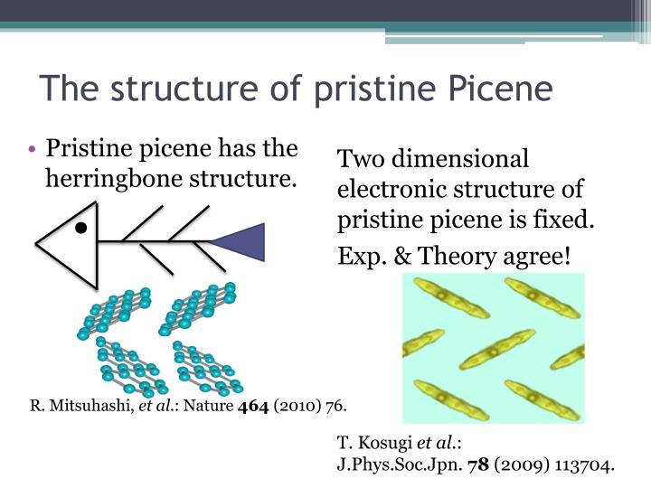 The structure of pristine