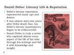 daniel defoe literary life reputation1
