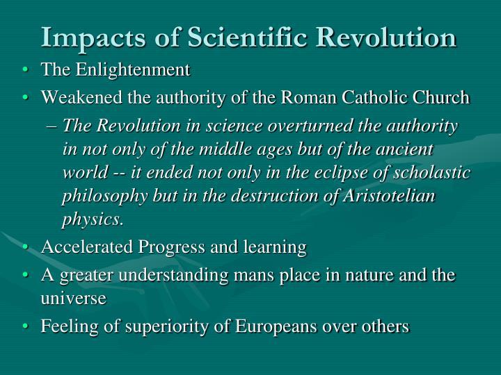 Impacts of Scientific Revolution