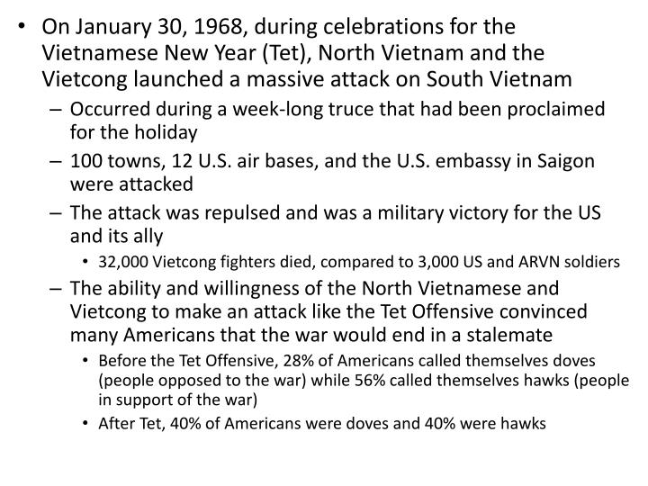 On January 30, 1968, during celebrations for the Vietnamese New Year (