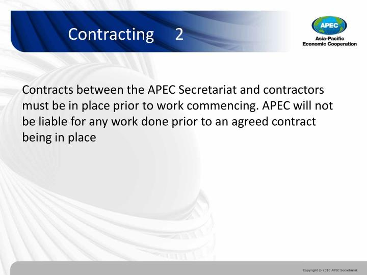 Contracting     2