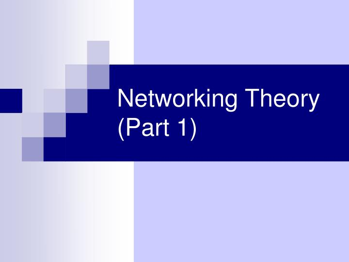 networking theory part 1 n.