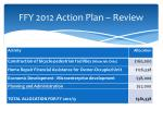 ffy 2012 action plan review