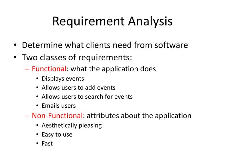 PPT Requirement Analysis PowerPoint Presentation ID - Requirement analysis