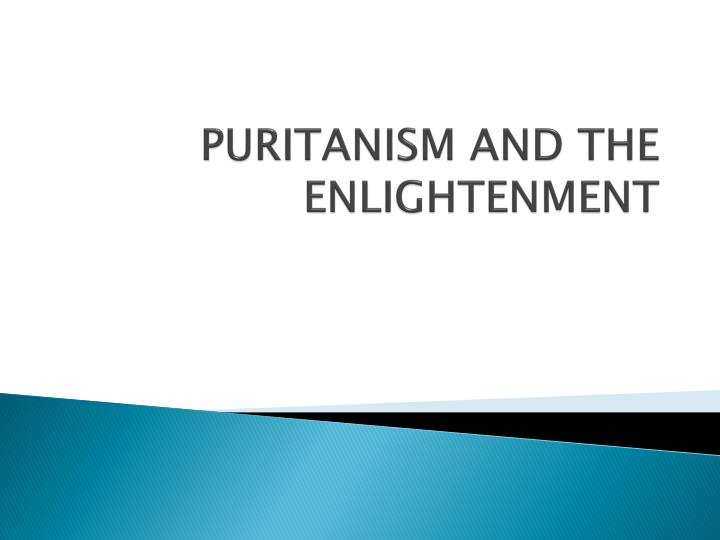 puritanism and the enlightenment n.