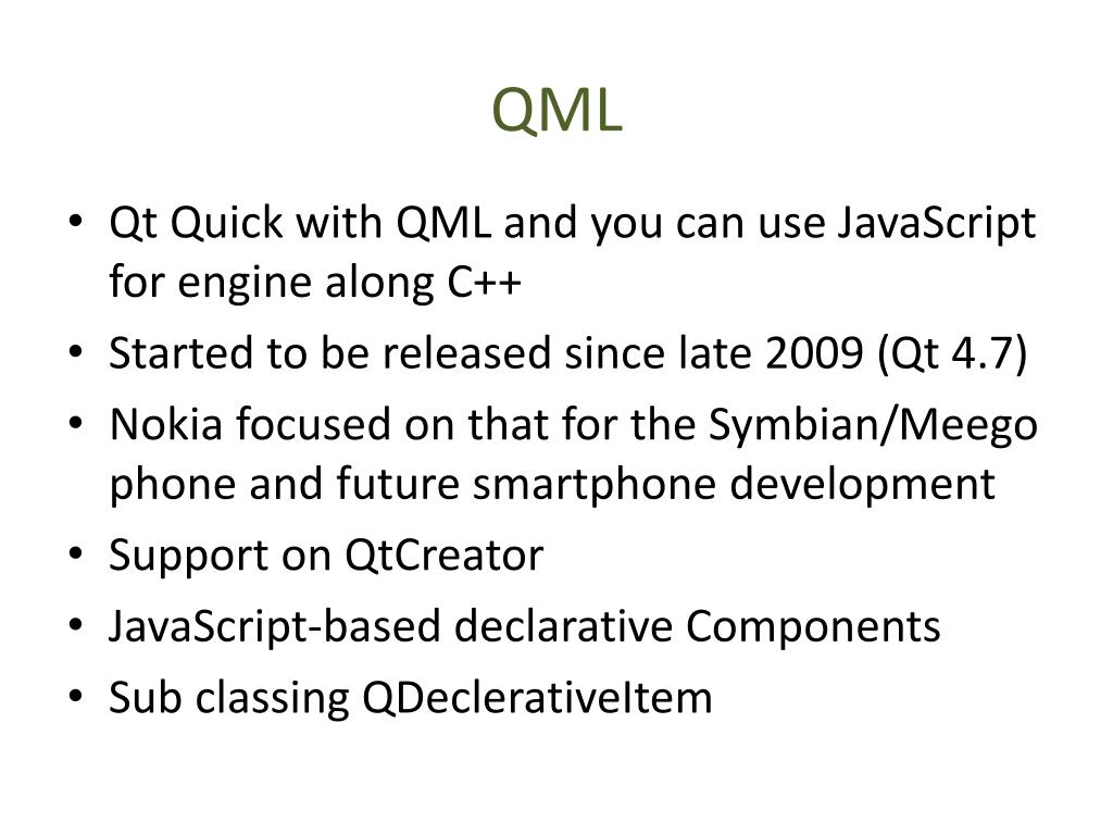PPT - QML PowerPoint Presentation - ID:2631431