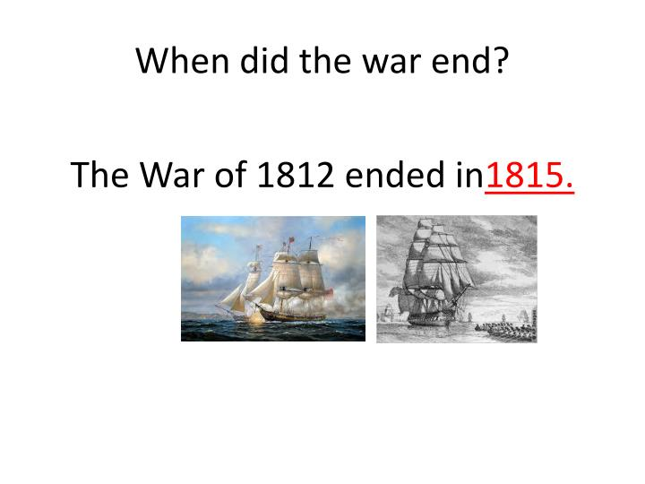1 why did the war of 1812 2018-6-3 view notes - study questions for the war of 1812 pbs video pt1 from hy 120 at university of alabama at birmingham why did the us rely on militia during the war of 1812.