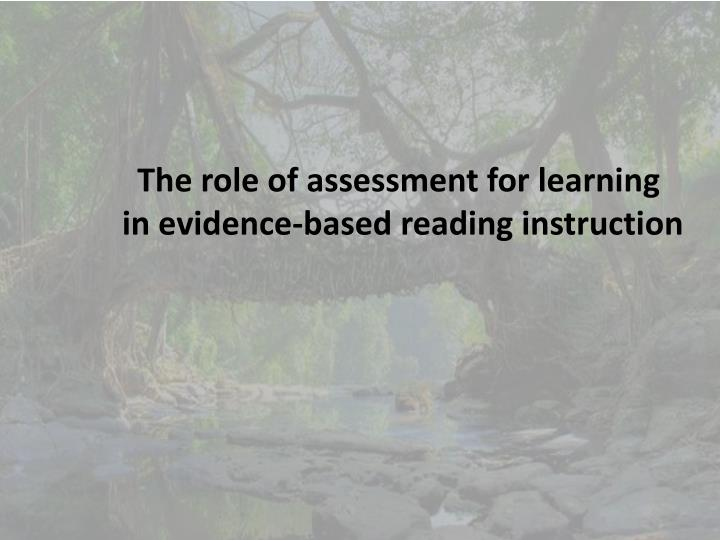 The role of assessment for learning