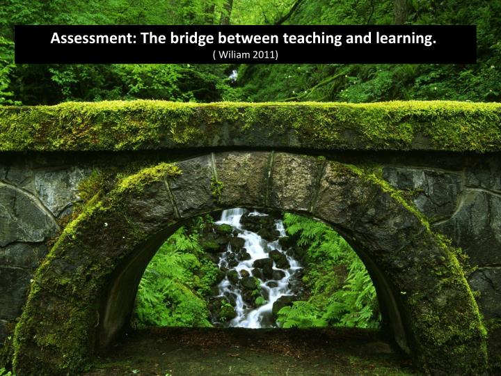 Assessment: The bridge between teaching and learning.