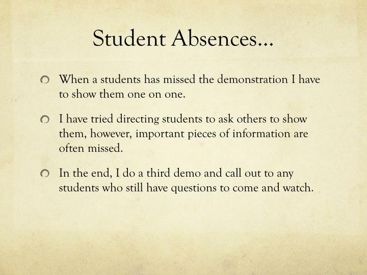 Student Absences…