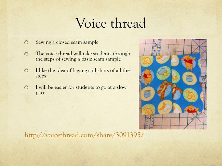Voice thread