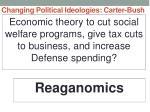 changing political ideologies carter bush17