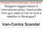 changing political ideologies carter bush21