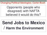 changing political ideologies carter bush30