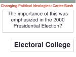 changing political ideologies carter bush34