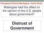 changing political ideologies carter bush5