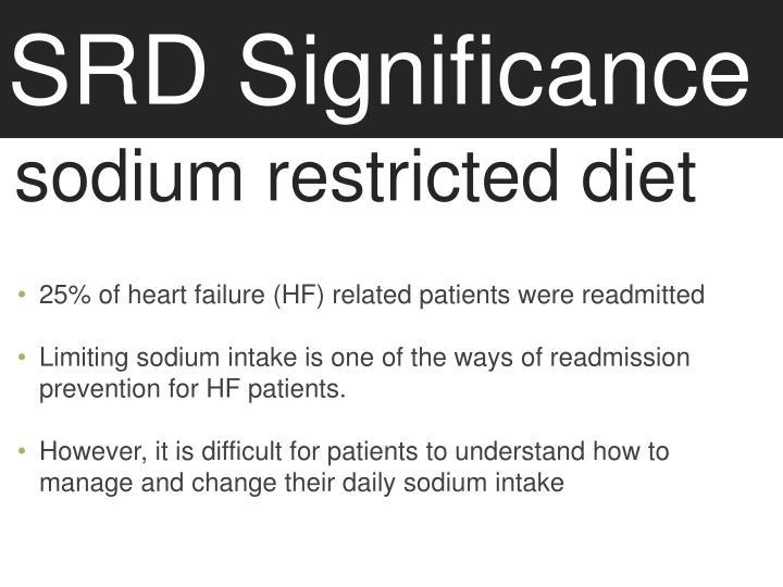 SRD Significance