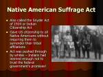 native american suffrage act