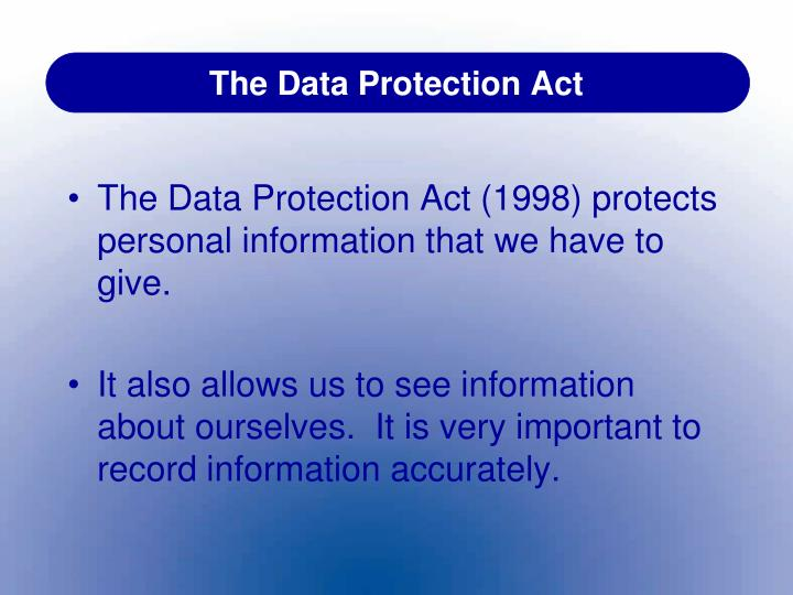 evaluation of data protection act in childcare I allow my child to be in photographs displayed on the nursery website   children's services and in doing so have to comply with the data protection act  1998  the qca can use the information to evaluate the effectiveness of the  national.