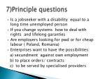 7 principle questions