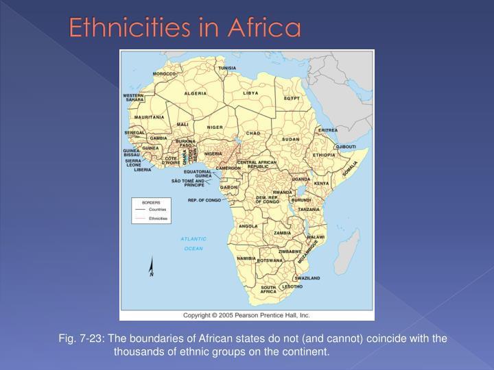 Ethnicities in Africa