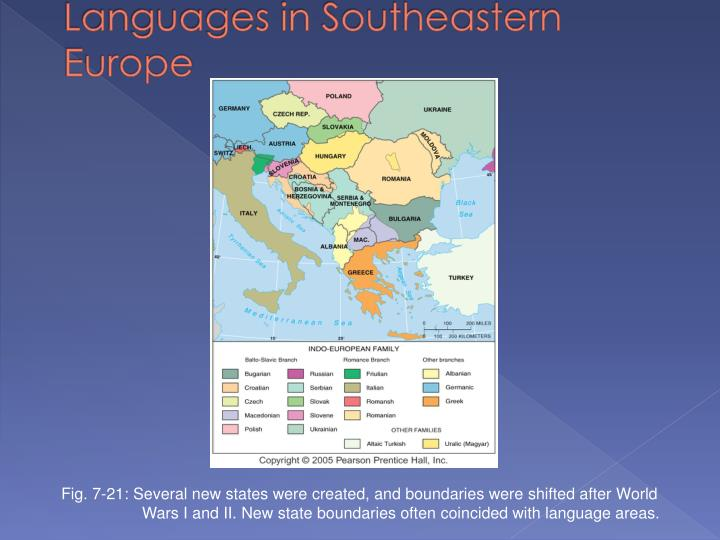 Languages in Southeastern Europe