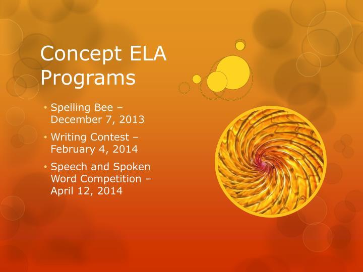 Concept ELA Programs