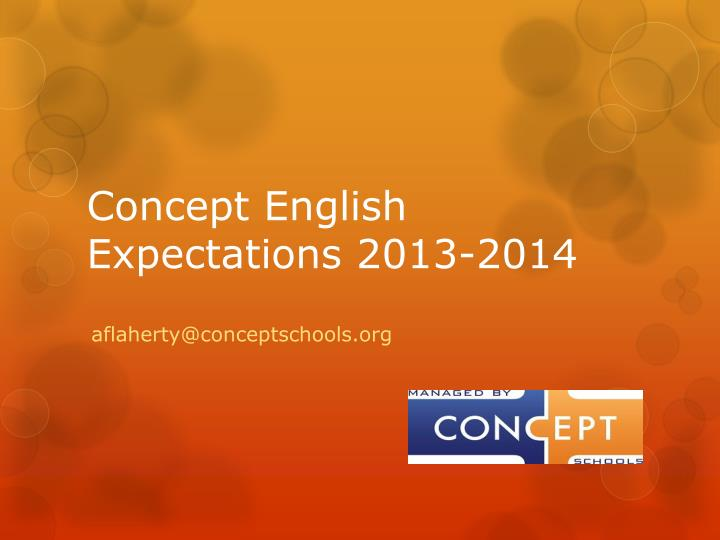 Concept english expectations 2013 2014