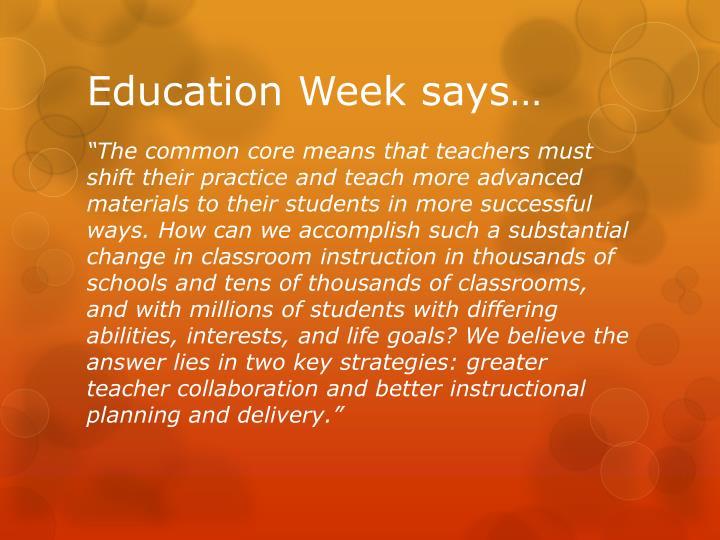 Education week says