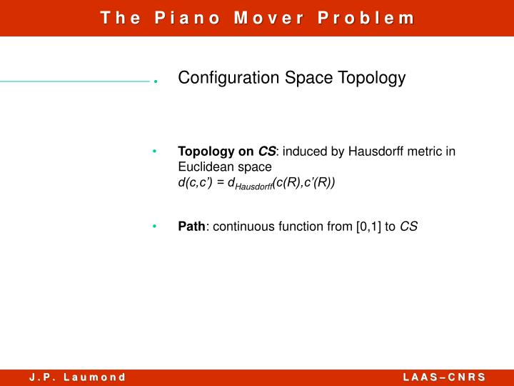 Configuration Space Topology