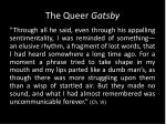 the queer gatsby