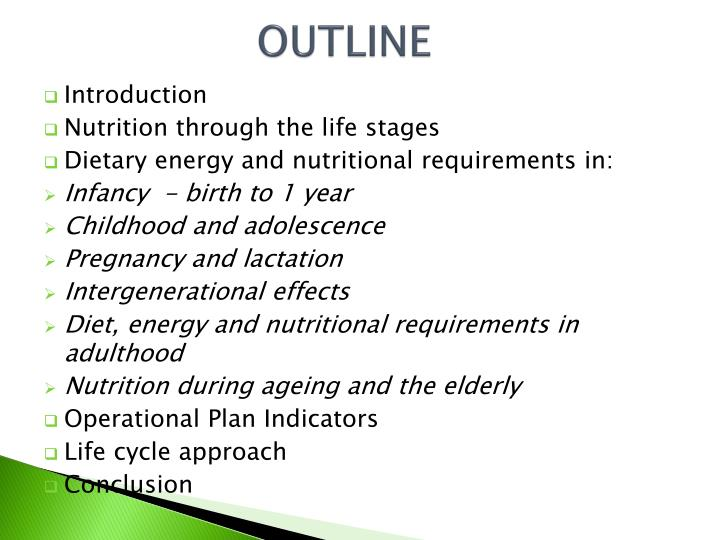 nutrition a lifespan approach