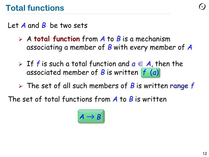 Total functions