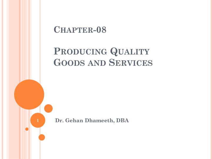 chapter 08 producing quality goods and services n.