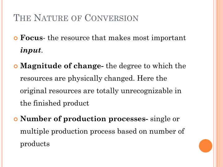 The Nature of Conversion