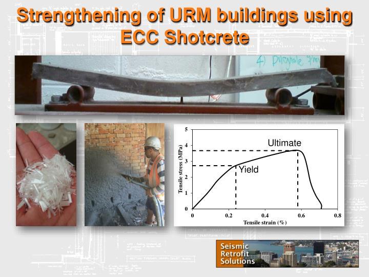 Strengthening of urm buildings using ecc shotcrete