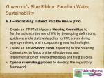 governor s blue ribbon panel on water sustainability