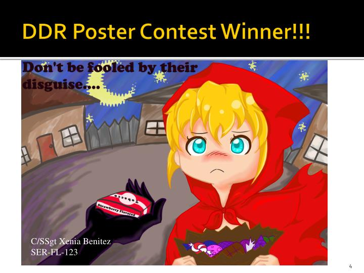 DDR Poster Contest Winner!!!