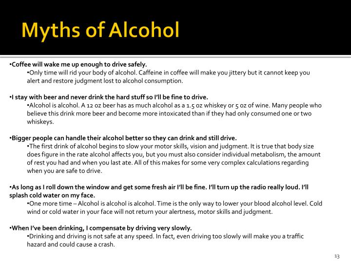 Myths of Alcohol