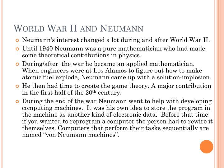 World war ii and neumann