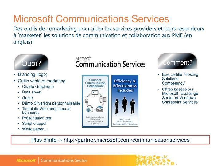 Microsoft Communications Services