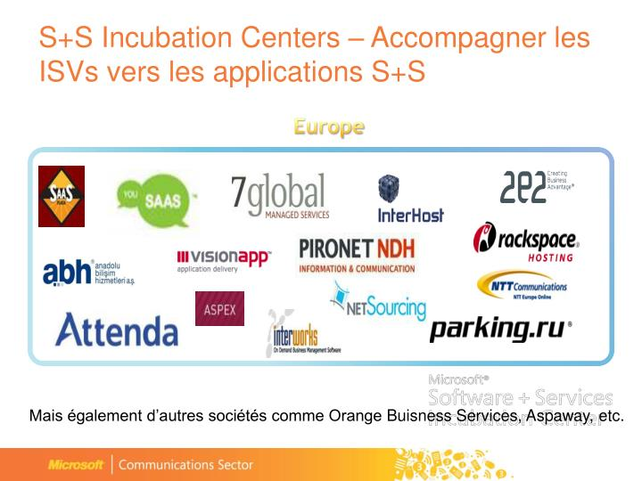 S+S Incubation Centers –