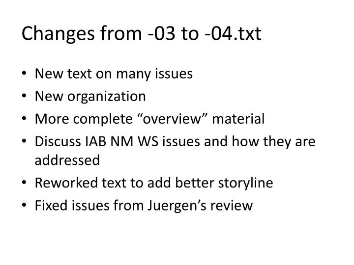 Changes from -03 to -04.txt