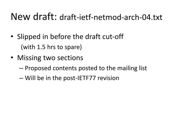 New draft: