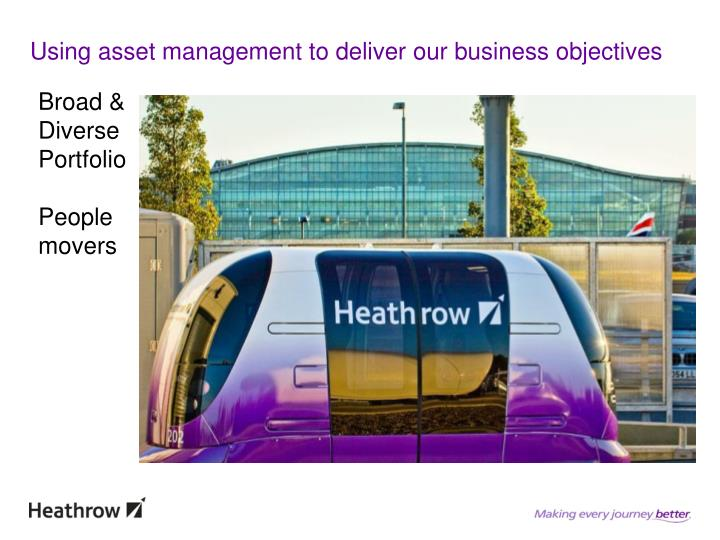Using asset management to deliver our business objectives