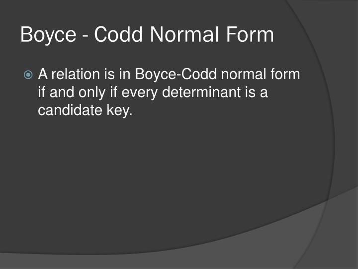 Boyce -
